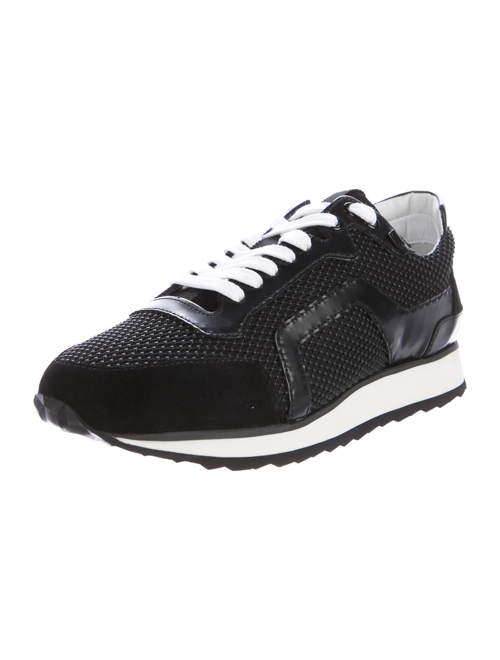 pierre hardy leather trimmed track sneakers w tags shoes pie24286 the realreal. Black Bedroom Furniture Sets. Home Design Ideas