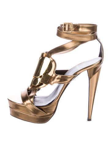 cheap sale high quality buy cheap countdown package Pierre Hardy Metallic Caged Sandals U82rHAa5ey