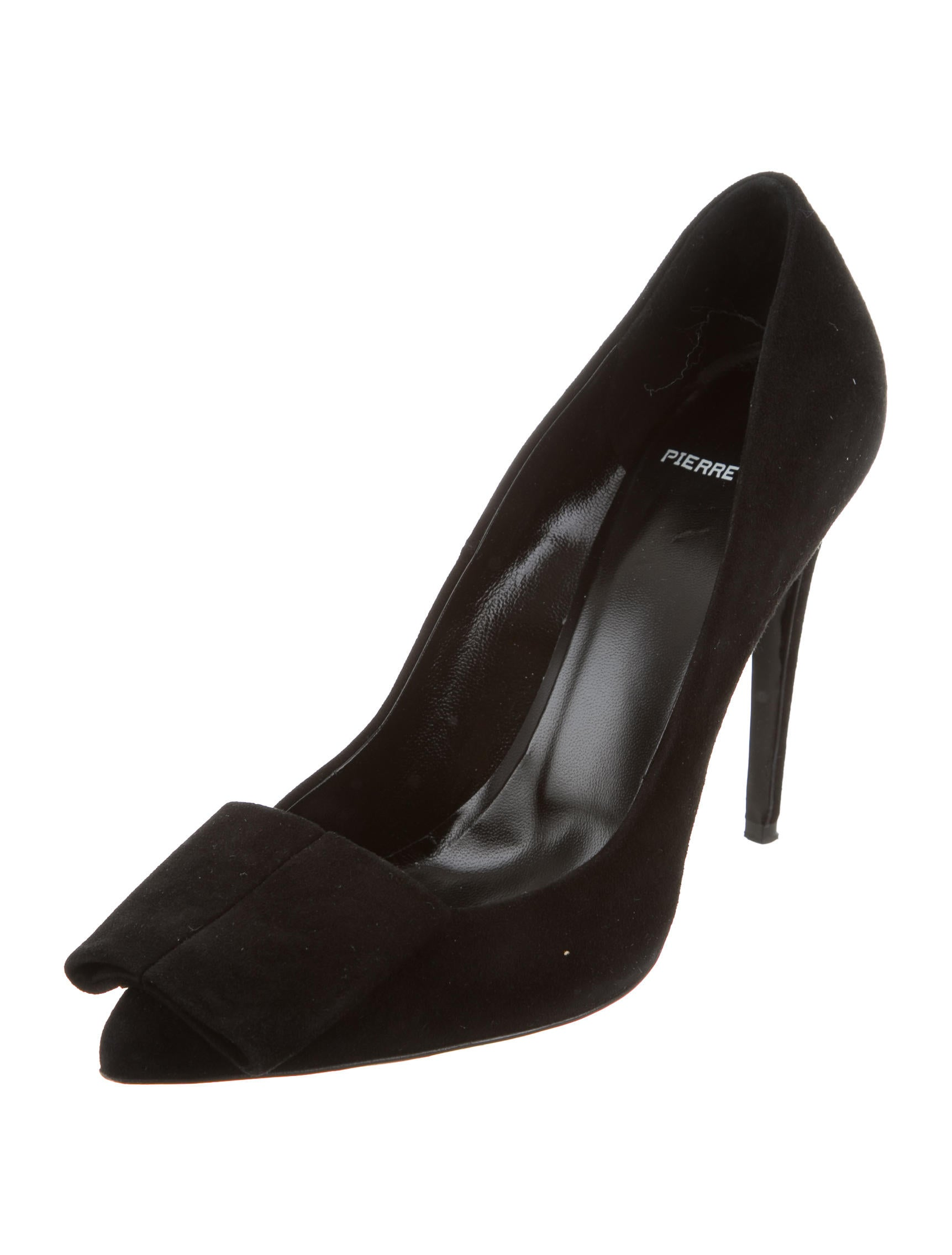 pierre hardy suede bow pumps shoes pie24497 the realreal. Black Bedroom Furniture Sets. Home Design Ideas