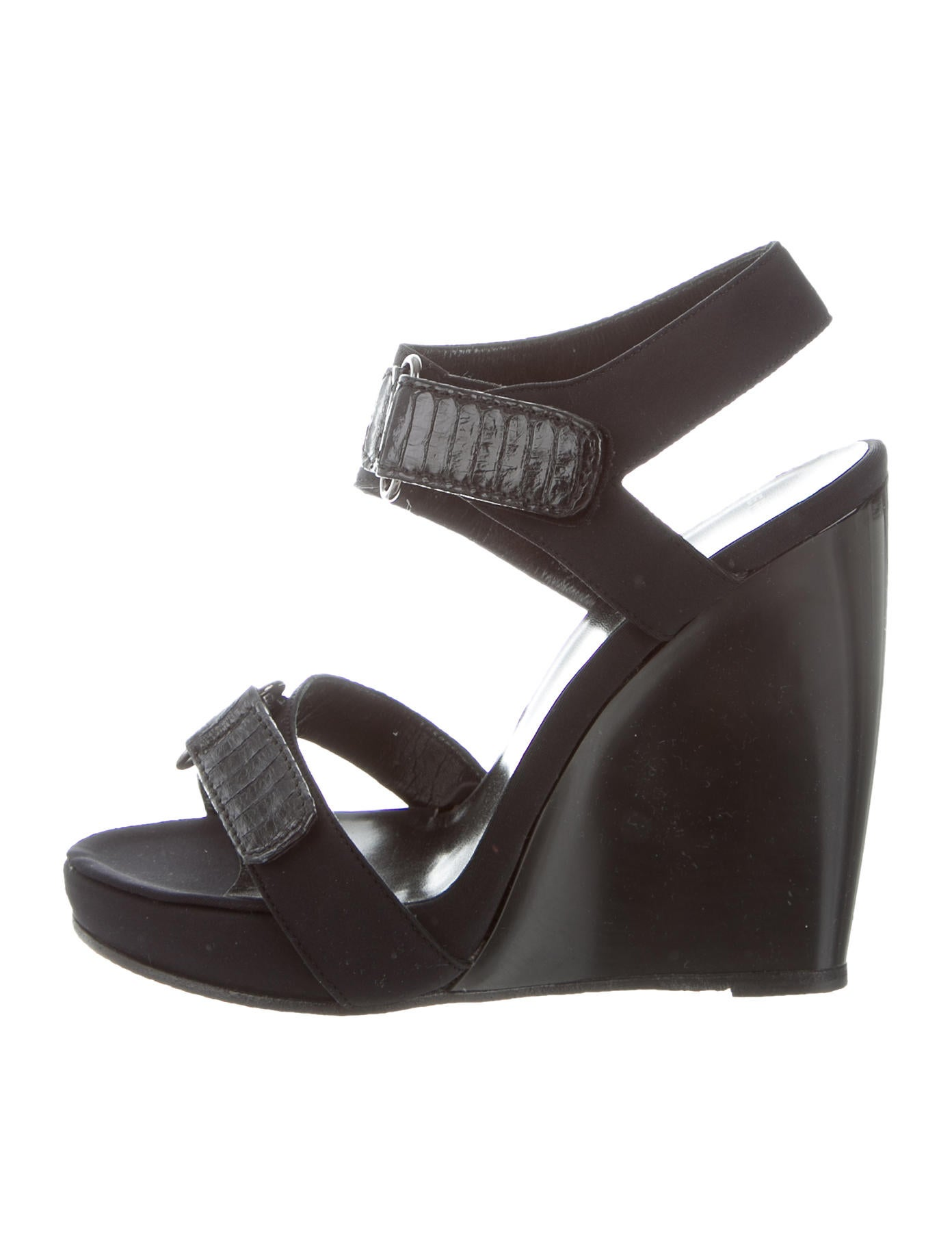 Pierre Hardy Ankle-Strap Wedge Sandals - Shoes - PIE24583 ...