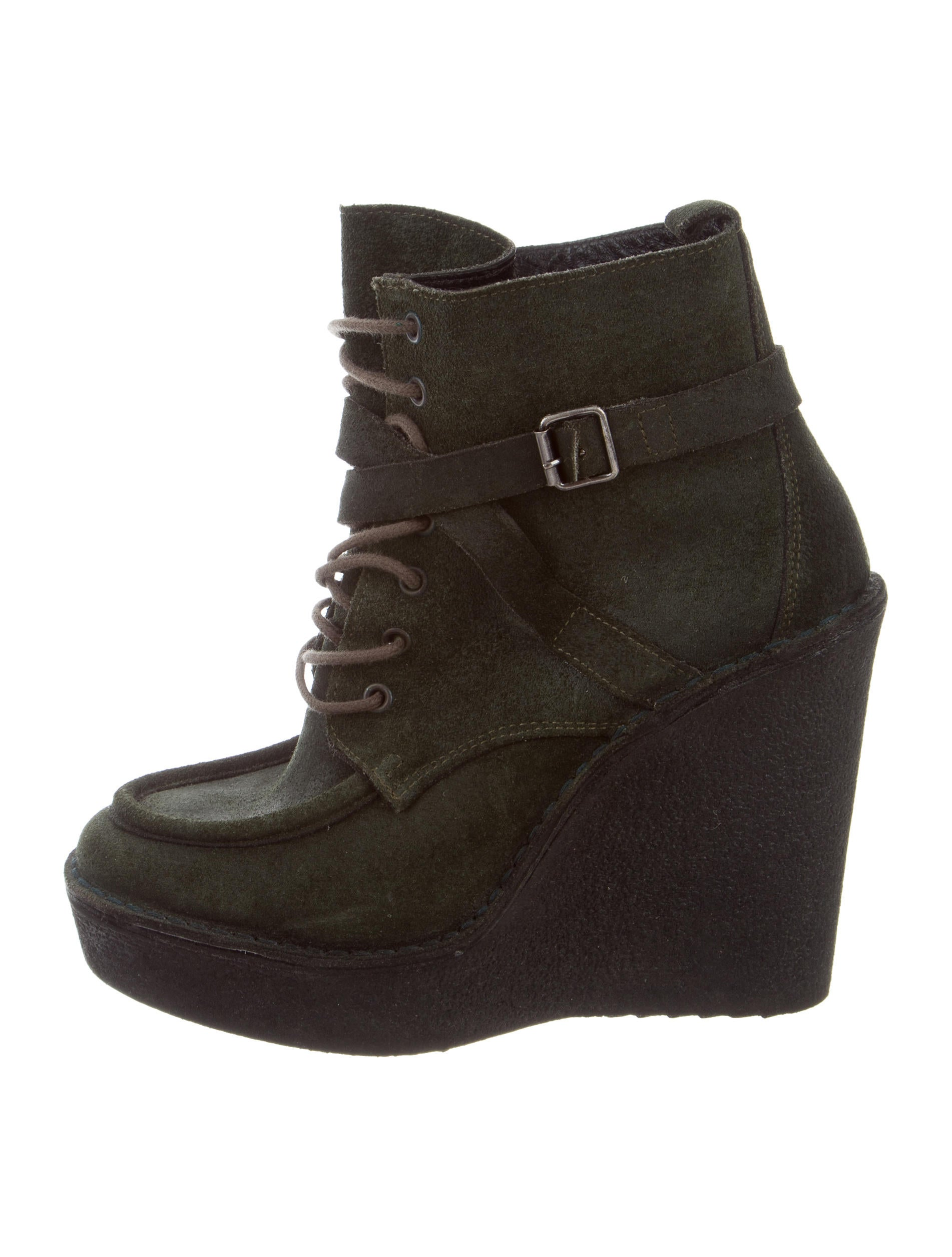 Pierre Hardy Suede Wedge Boots - Shoes