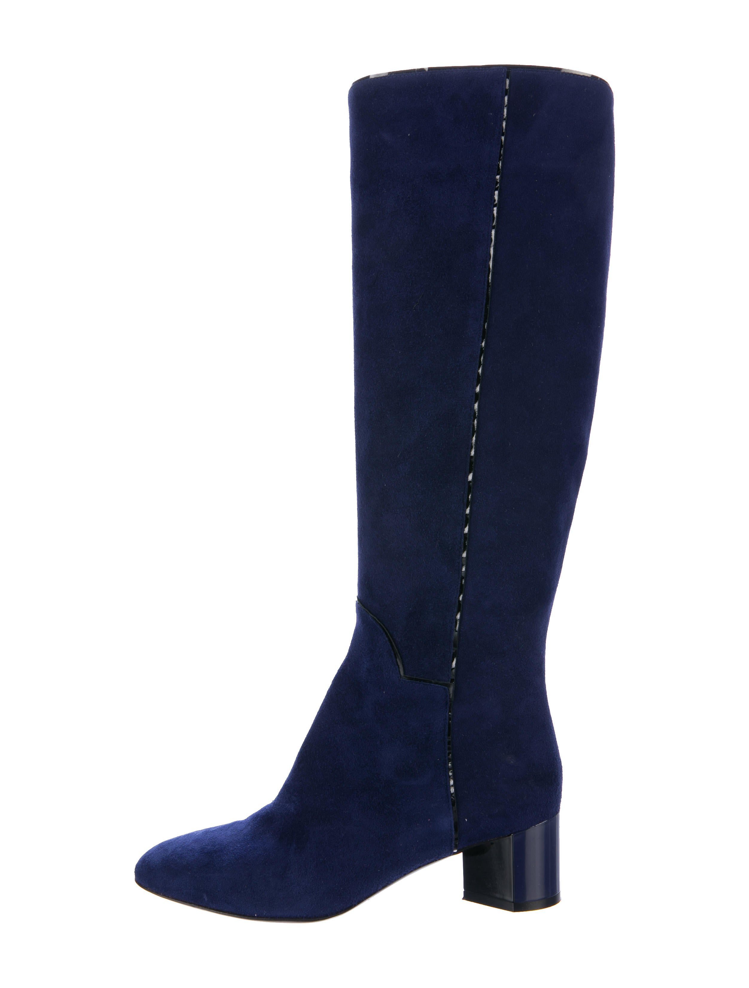 Pierre Hardy Suede Knee-High Boots - Shoes