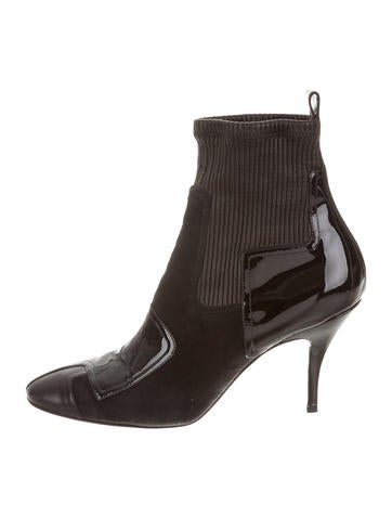 Pierre Hardy Patent Leather Round-Toe Booties