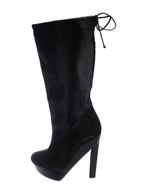Pierre Hardy Ponyhair Platform Boots Black