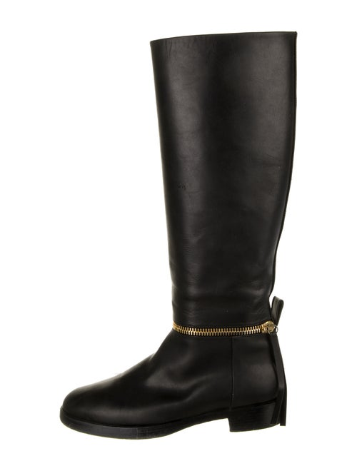 Pierre Hardy Leather Riding Boots Black