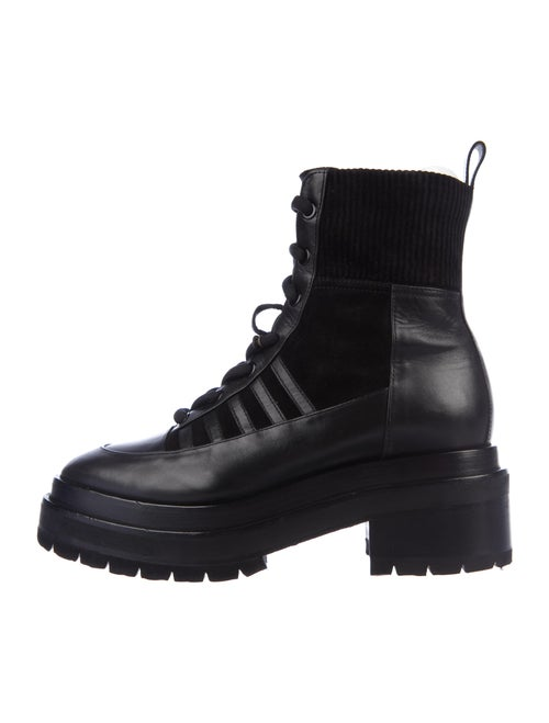 Pierre Hardy Leather Combat Boots Black