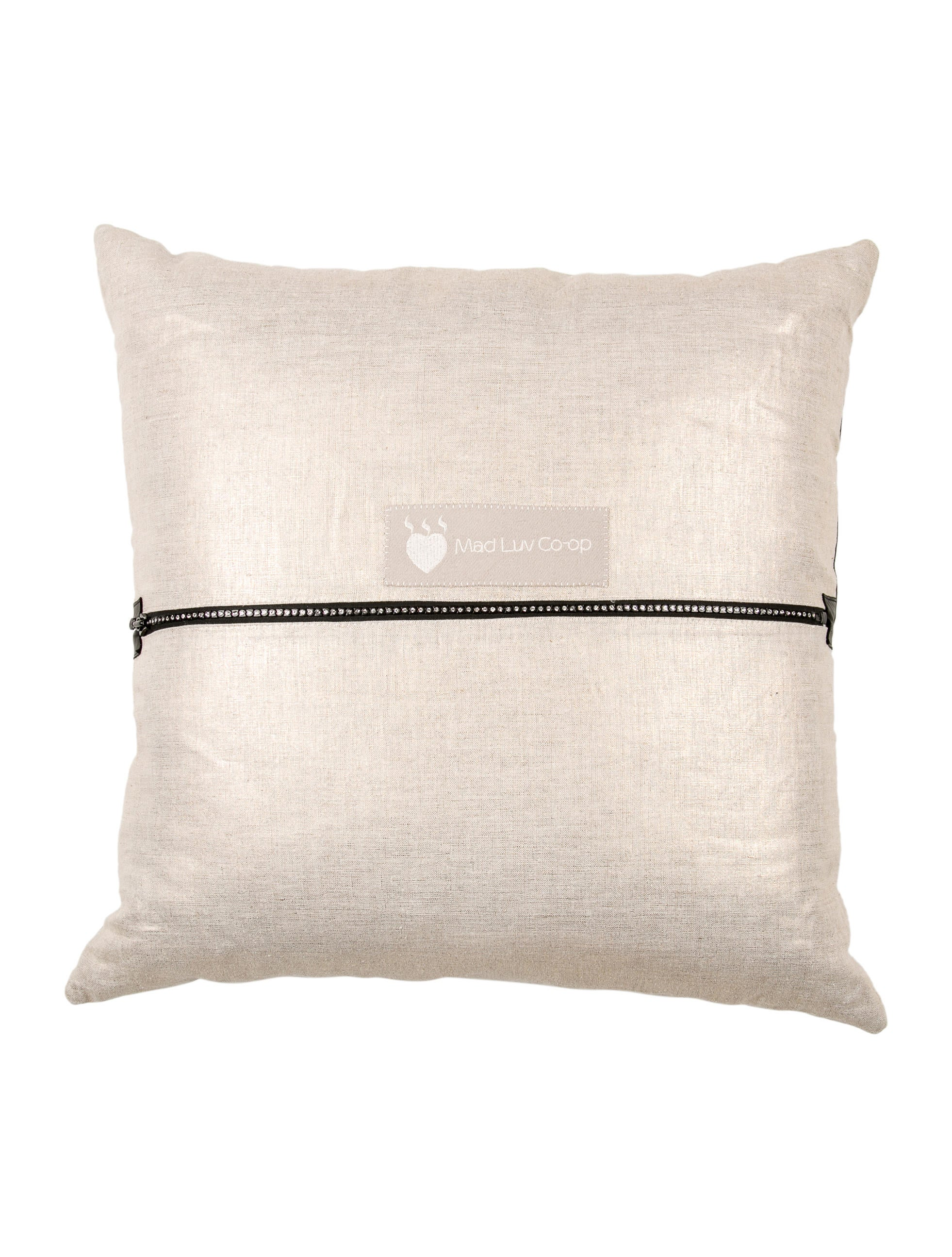 Leather-Accented Throw Pillow - Bedding And Bath - PILLO20084 The RealReal