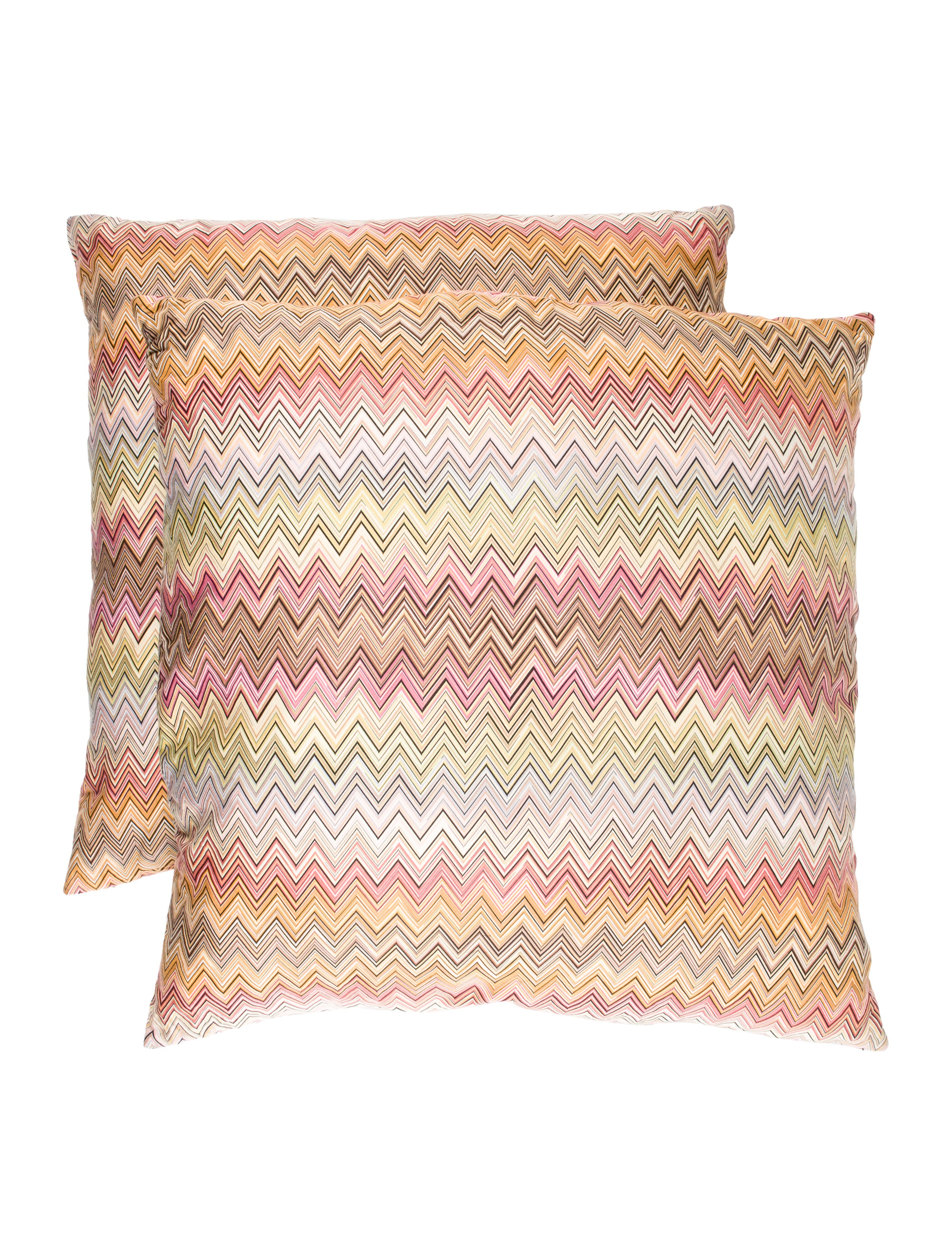 Set Of Two Chevron Cushions
