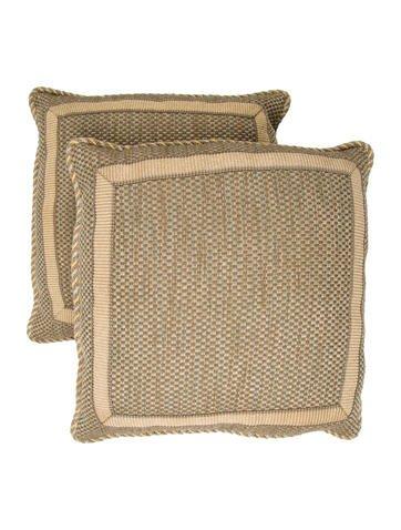 Woven Wool Throw Pillows None