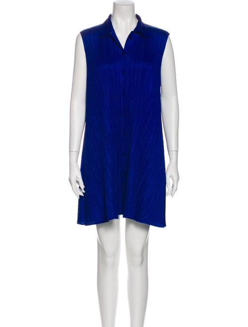 Pleats Please Issey Miyake Mini Dress Blue - image 1