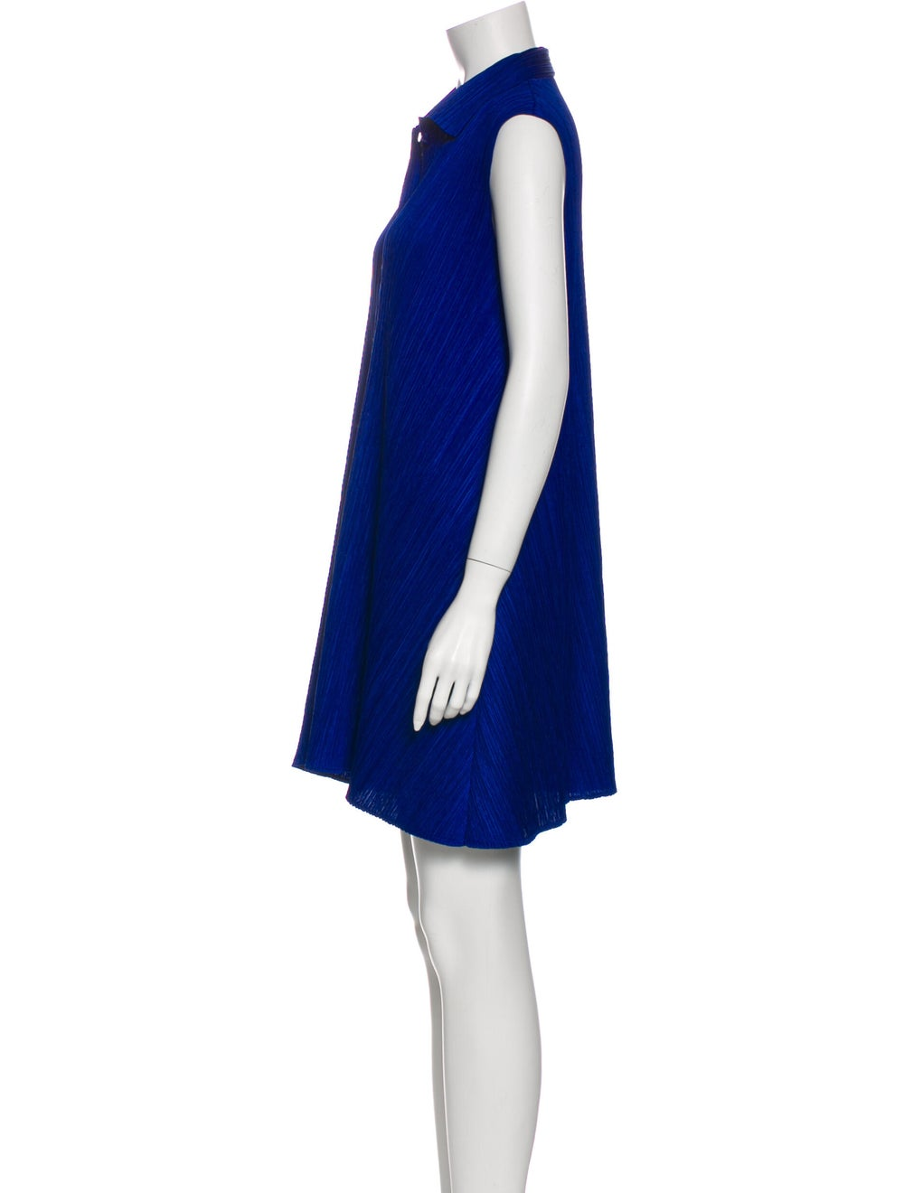 Pleats Please Issey Miyake Mini Dress Blue - image 2