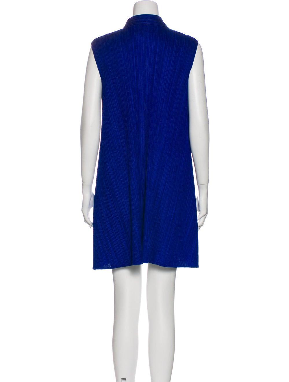 Pleats Please Issey Miyake Mini Dress Blue - image 3
