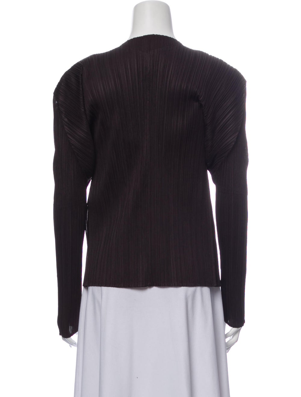 Pleats Please Issey Miyake Open Front Sweater Bla… - image 3