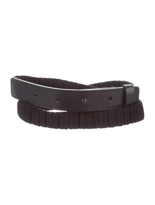 Pleats Please Issey Miyake Suede Hip Belt Black - image 1