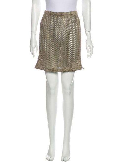 Pleats Please Issey Miyake Mini Skirt Green