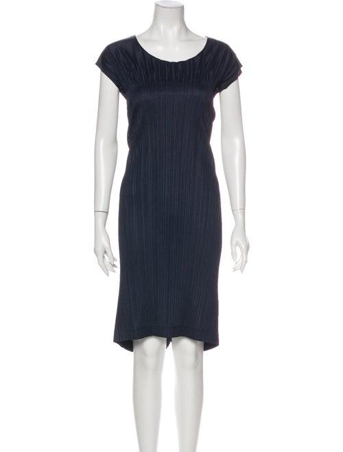 Pleats Please Issey Miyake Scoop Neck Mini Dress B