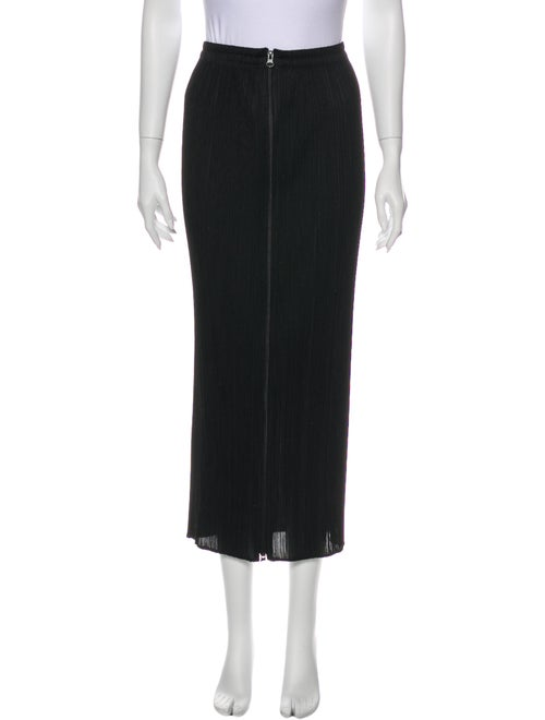 Pleats Please Issey Miyake Midi Length Skirt Black