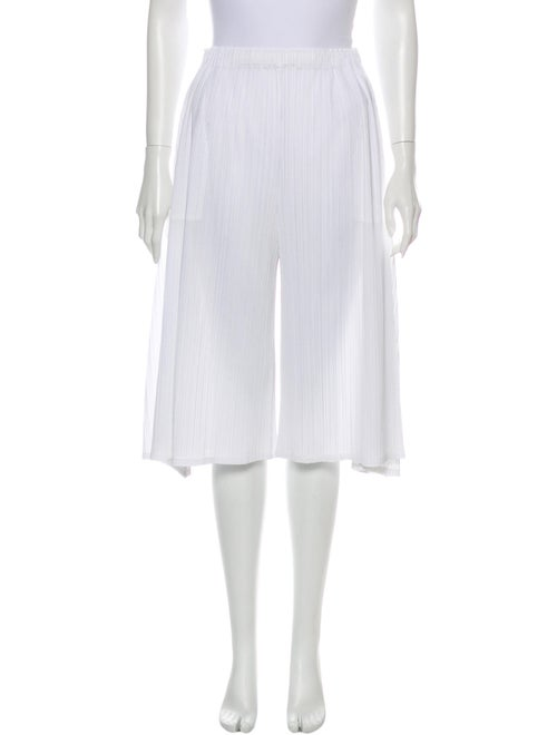 Pleats Please Issey Miyake Wide Leg Pants White