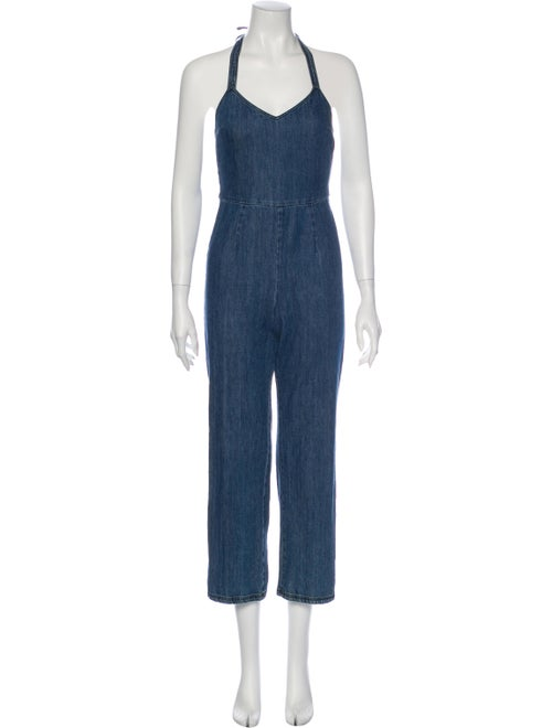Paloma Wool V-Neck Jumpsuit Wool