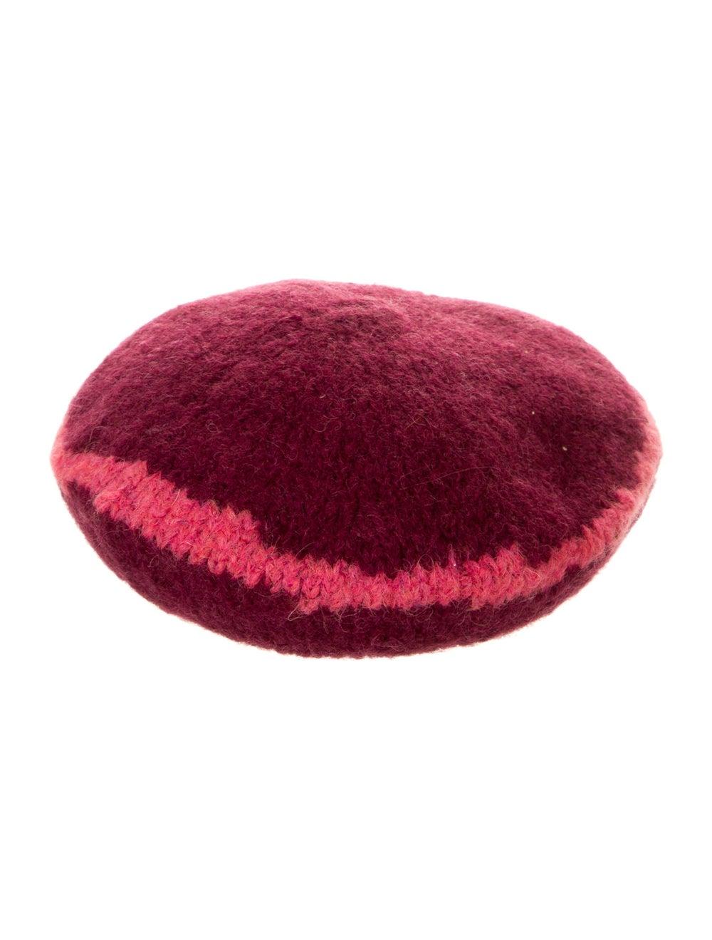 Paloma Wool Two-Tone Knit Beret pink - image 2