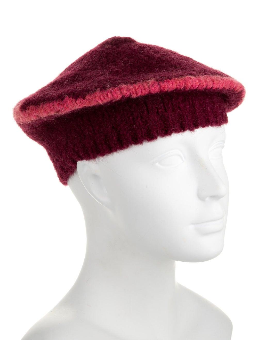Paloma Wool Two-Tone Knit Beret pink - image 3