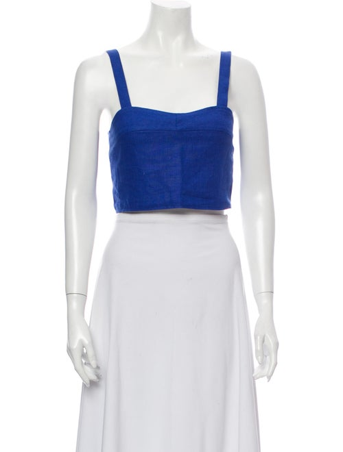 Paloma Wool Linen Square Neckline Crop Top Wool