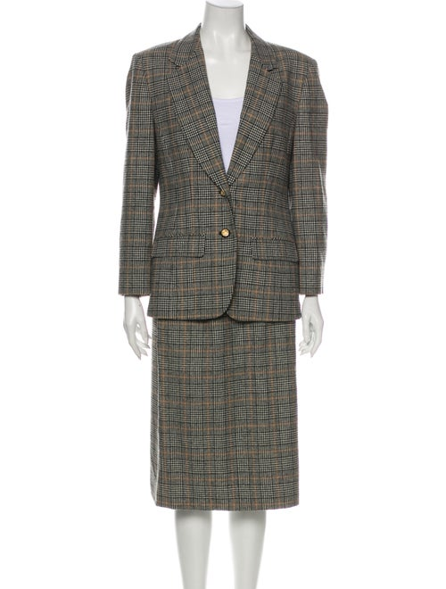 Pendleton Virgin Wool Plaid Print Skirt Suit Wool