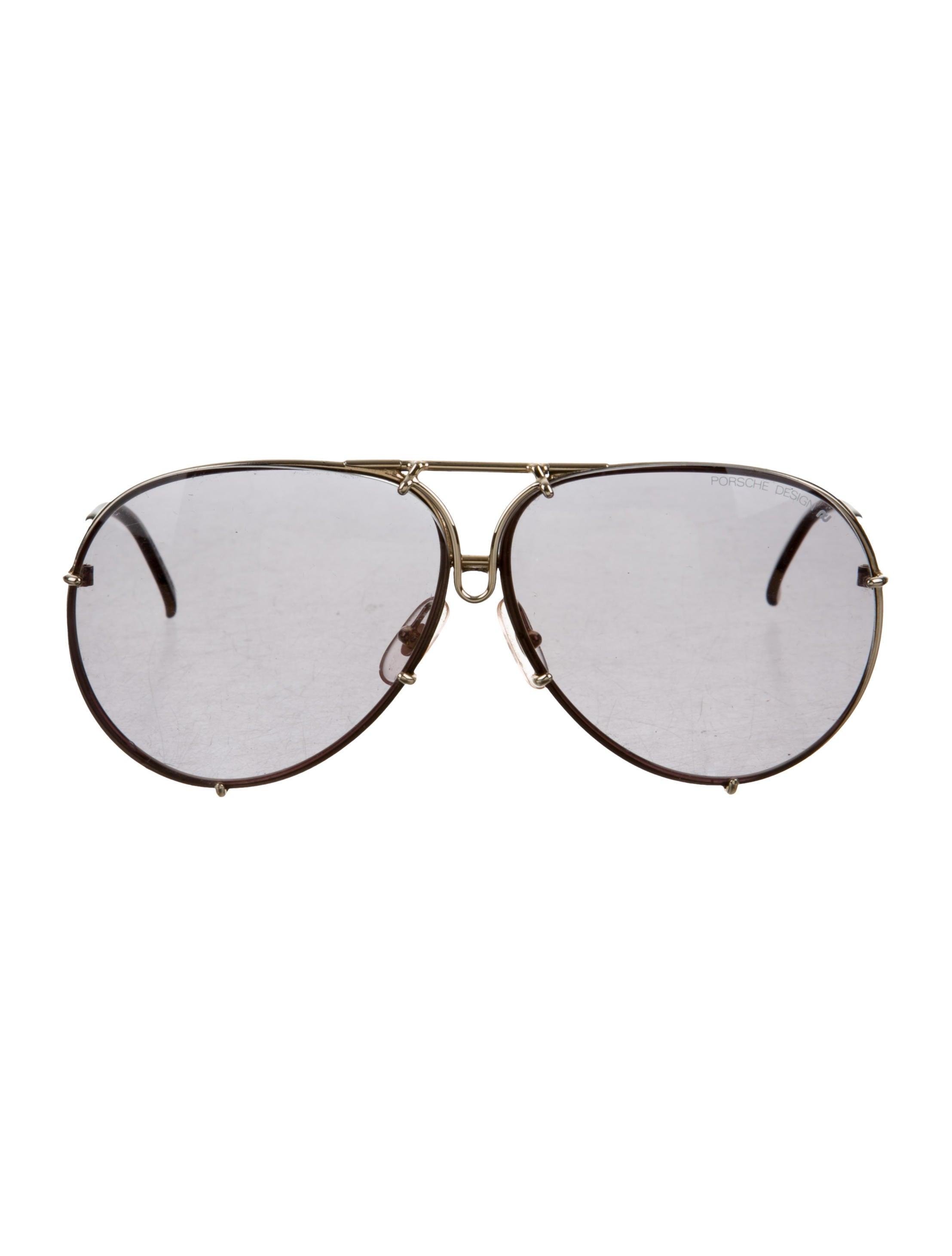 7c7a2f8a616 Porsche Design Oversize Aviator Sunglasses - Accessories - POD20089 ...