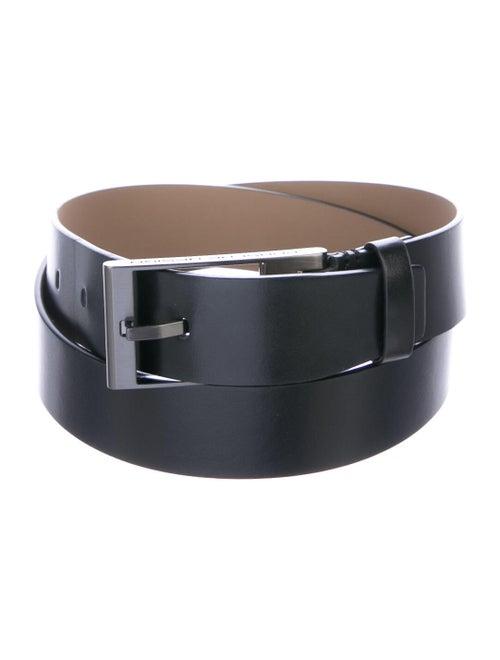 Porsche Design Wide Leather Belt black