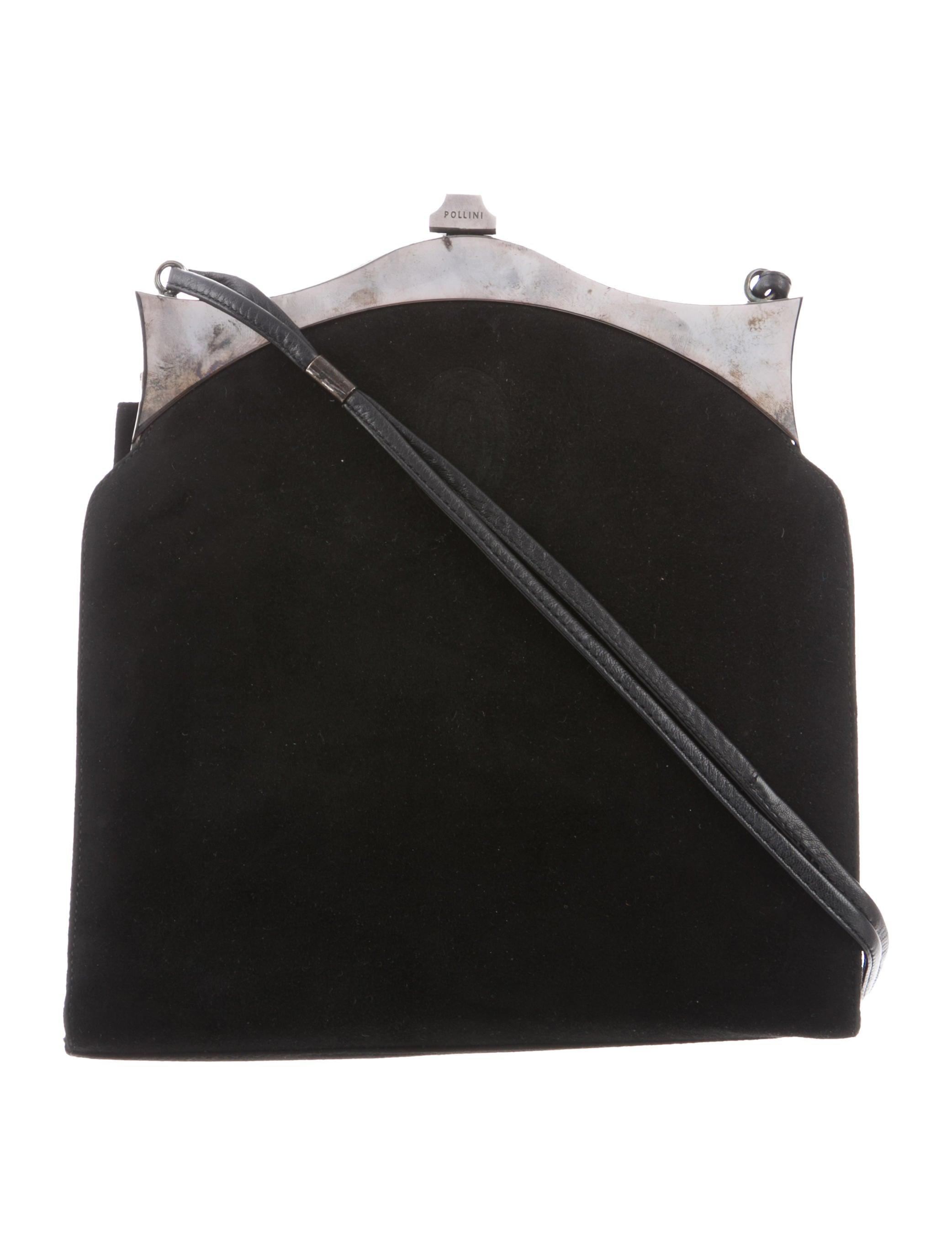 95ef5ebc17 Pollini Suede Frame Bag - Handbags - POL20562