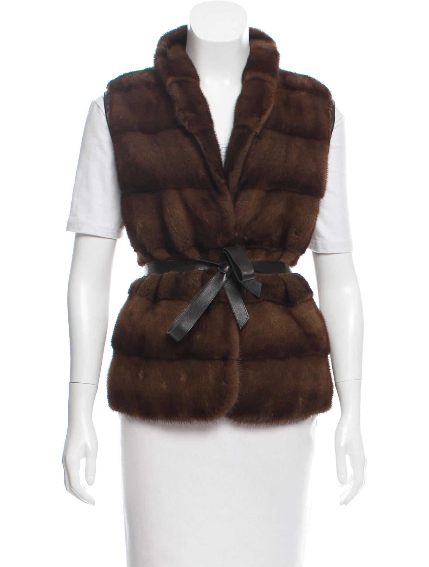 Pologeorgis Reversible Mink Fur Vest Clothing