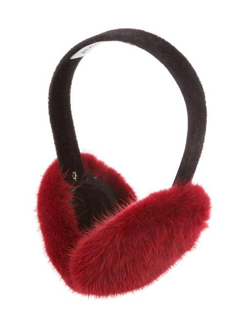 Pologeorgis Velvet & Mink Fur Earmuffs Black