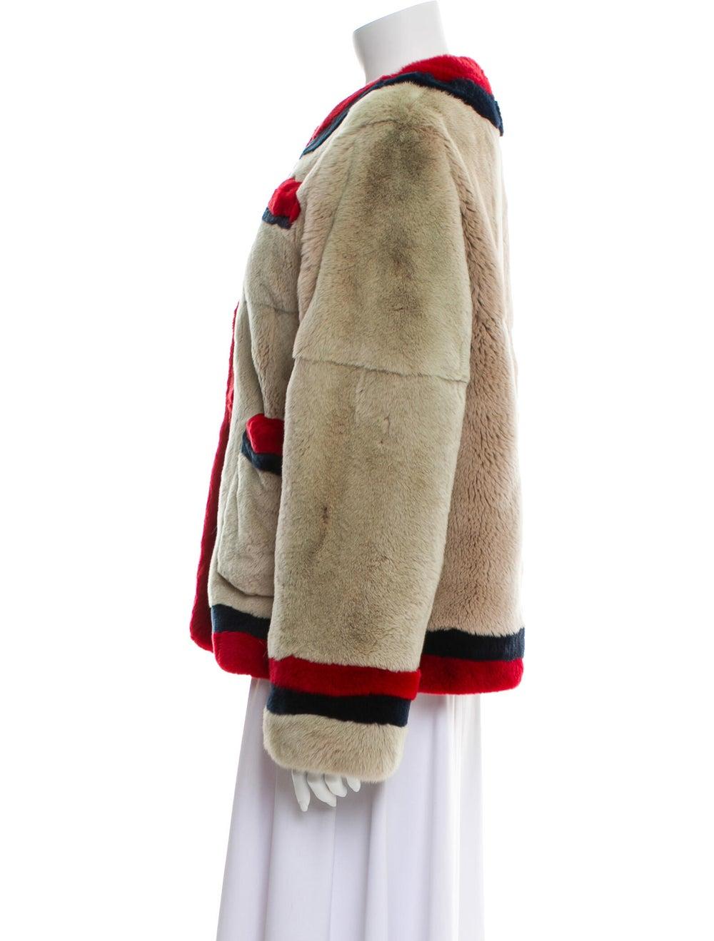 Pologeorgis Colorblock Pattern Fur Jacket - image 2