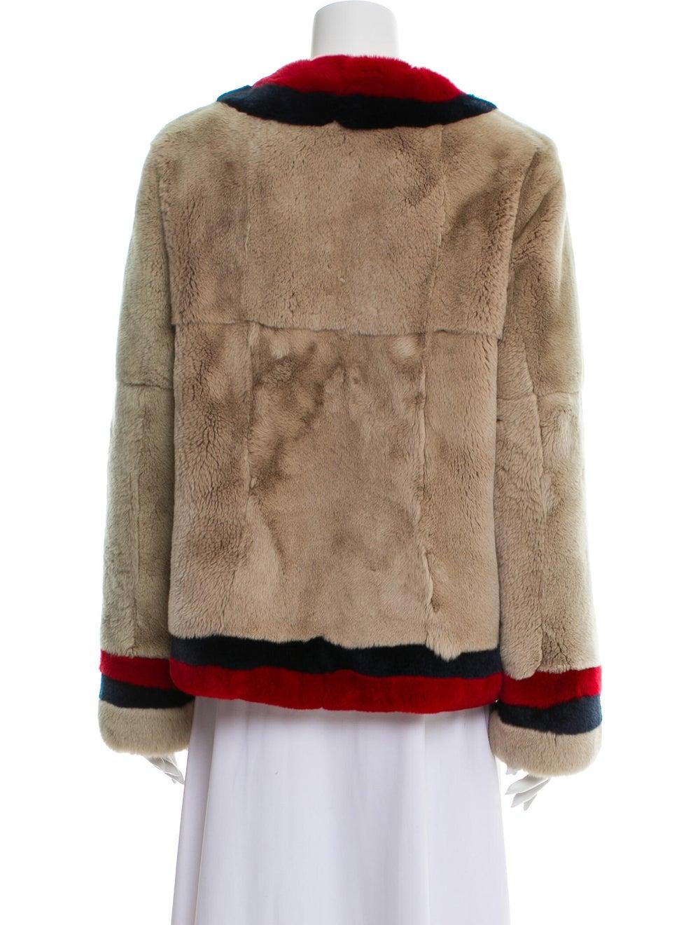 Pologeorgis Colorblock Pattern Fur Jacket - image 3