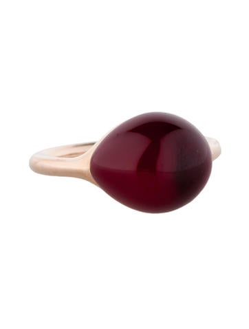 Pink Rouge Passion Burma Cabochon Ring