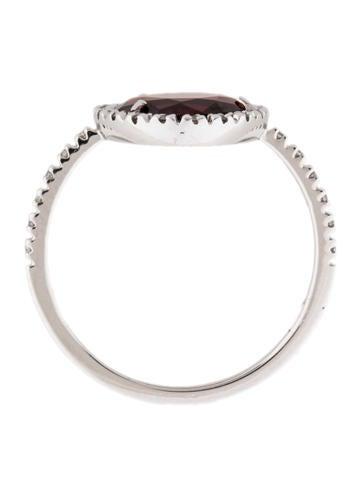 Colpo di Fulmine Oro Bianco Granato Ring