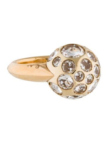 Pomellato Rock Crystal Harem Ring None
