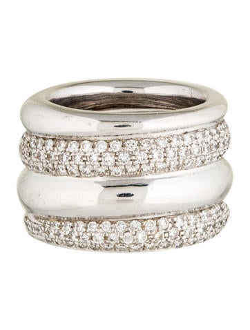 Pomellato Pavé Diamond Tubolare Ring None