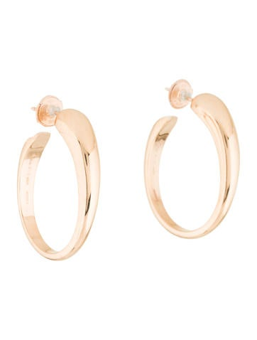 18K Tango Hoop Earrings