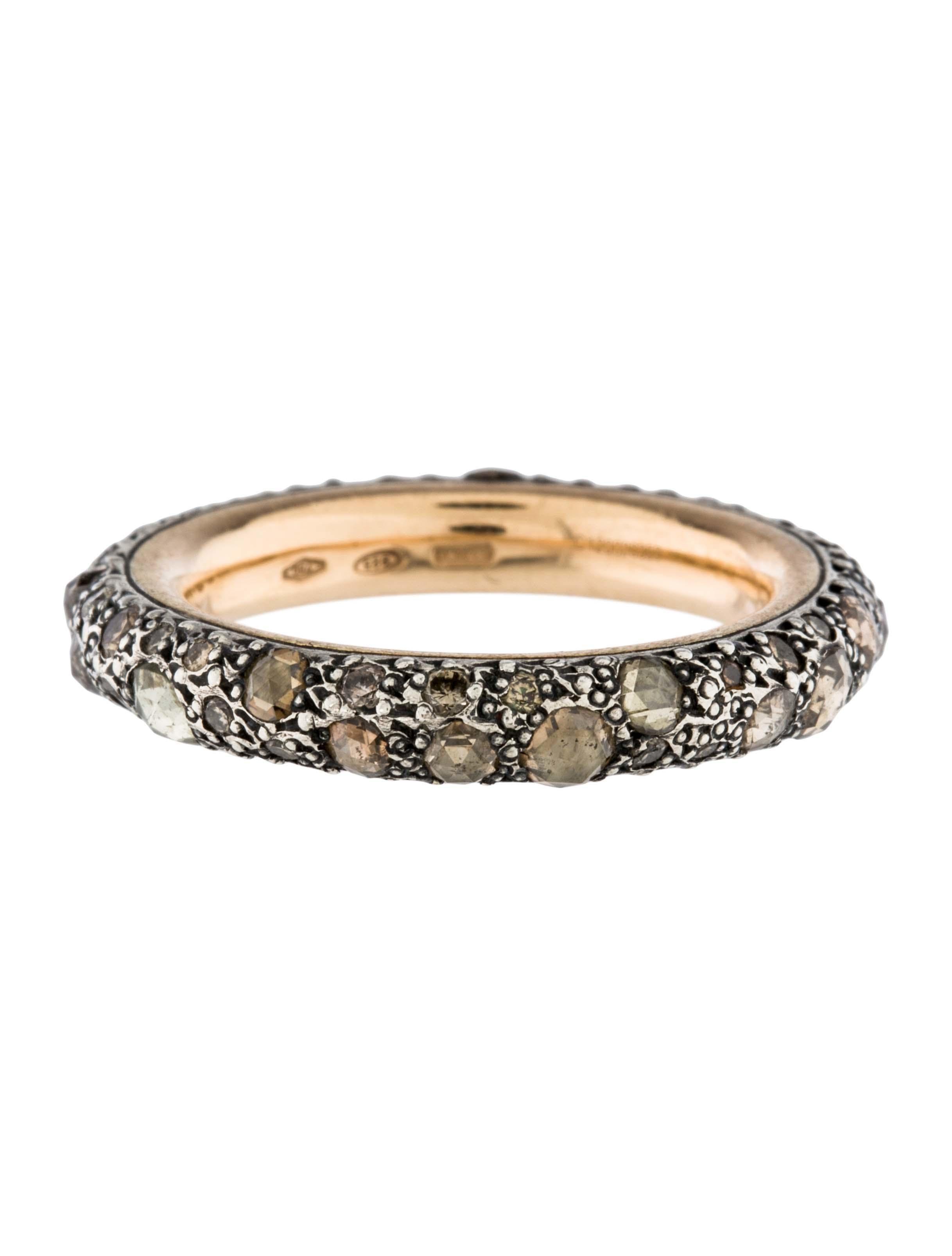 Pomellato Two Tone Diamond Tango Ring Band Rings