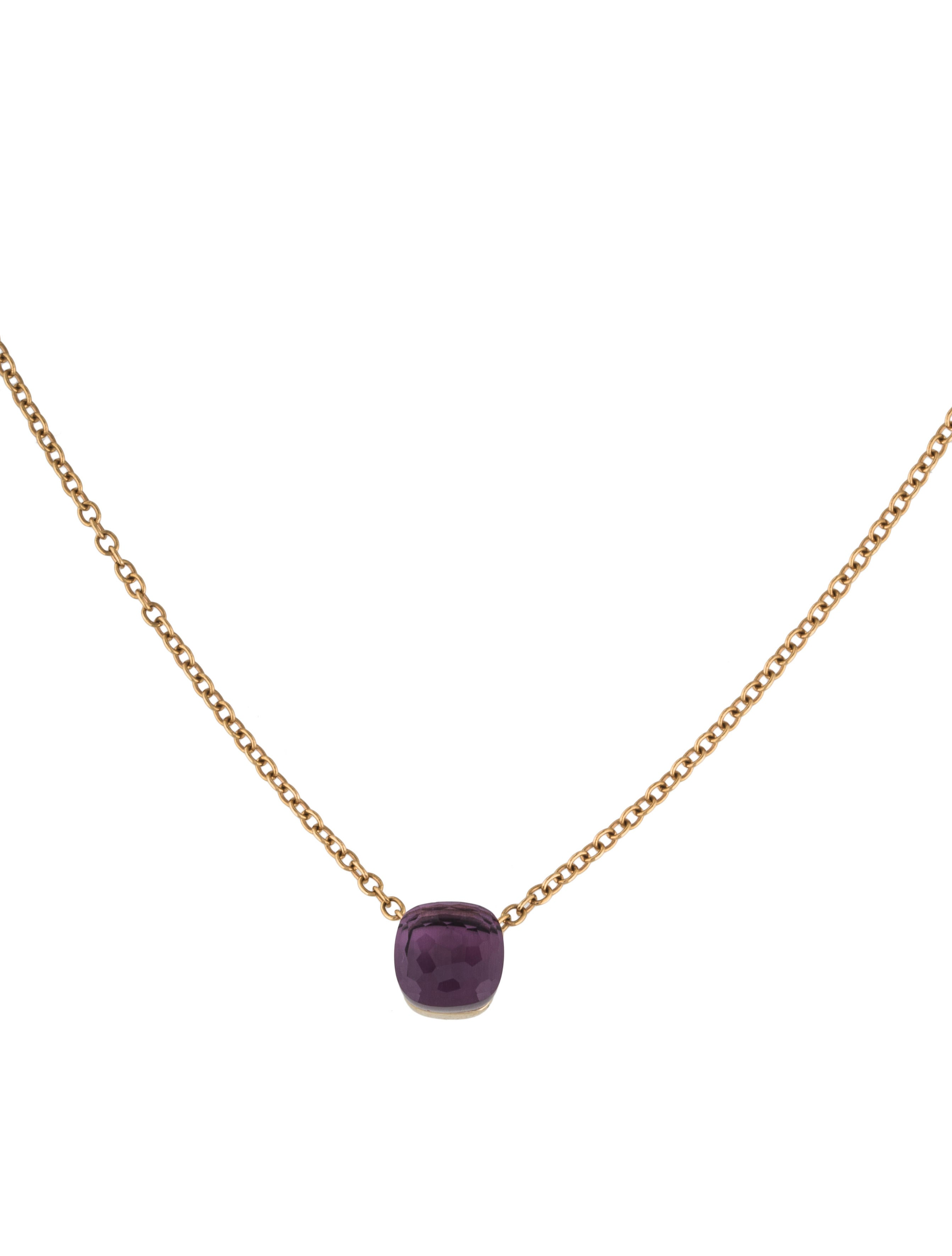 POMELLATO 18kt rose & white gold Nudo amethyst pendant necklace - Unavailable DInW5f
