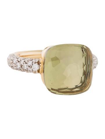 Pomellato 18K Diamond & Quartz Nudo Ring None