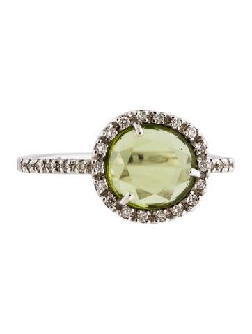 Pomellato 18K Peridot & Diamond Colpo di Fulmine Ring None