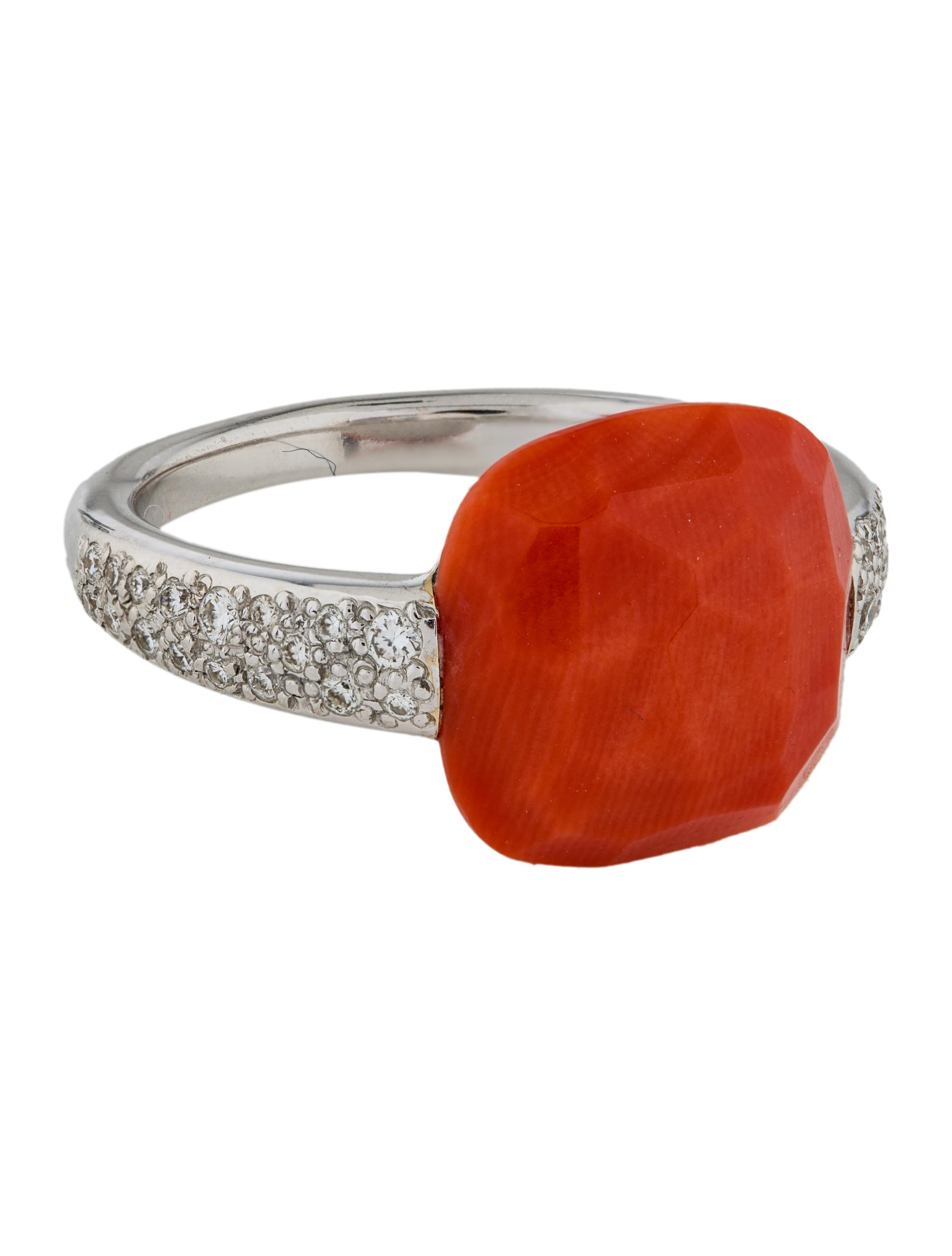 and overstock salmon jewelry ring orange free today valitutti product rings watches michael sapphire coral round cabochon bamboo shipping