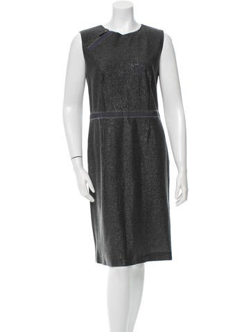Ports 1961 Wool Metallic Sleeveless Dress None