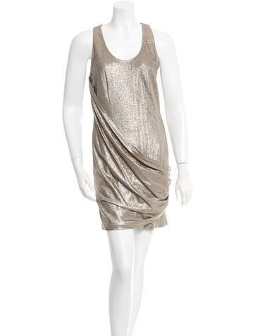 Ports 1961 Sleeveless Metallic Dress None