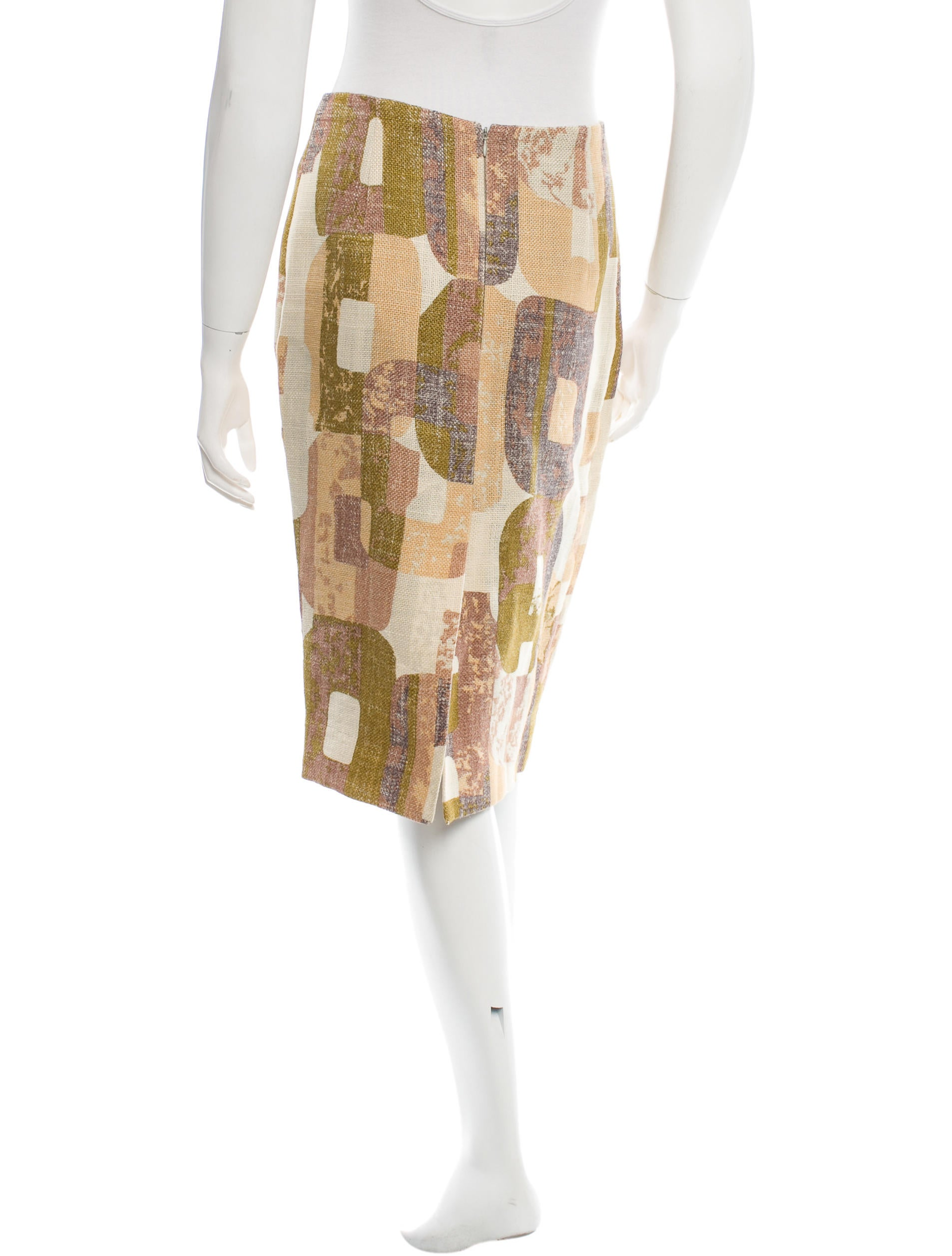 ports 1961 patterned pencil skirt clothing por21367