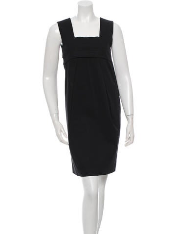 Ports 1961 Square Neck Sleeveless Dress None