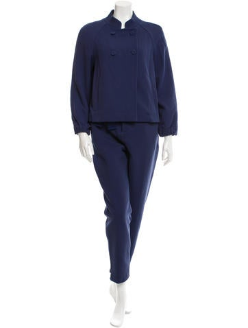 Ports 1961 Double-Breasted Straight-Leg Pantsuit w/ Tags