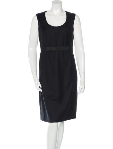 Ports 1961 Sleeveless Wool Dress None
